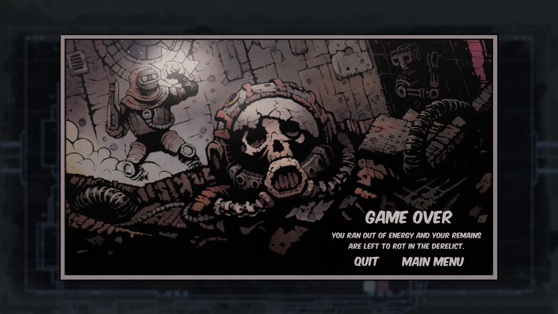 Game Over Screen