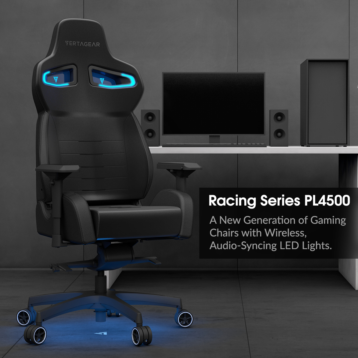 Amazing Vertagear Pl4500 The First Wireless Rgb Gaming Chair Short Links Chair Design For Home Short Linksinfo